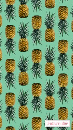 #pineapple #pattern #wallpaper #iphone #background #colorful #summer #fruit #healthy #food