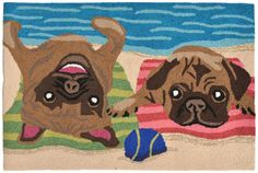 Frontporch 1520/44 Pug Life Multi Rug