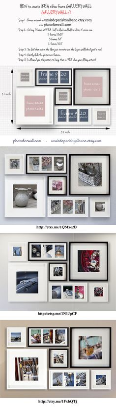 How to create a gallery wall by PHOTOFORWALL .com or on PHOTOFORWALL.etsy.com