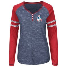 Ladies Majestic Throwback Lead Play Top-Royal Red Nfl Patriots da77bd24e
