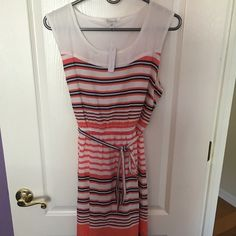 Blue & orange shift dress Shift dress with waist accentuated. Never worn before! Charming Charlie Dresses