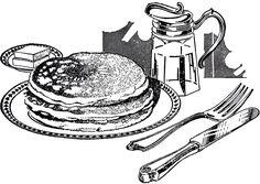 Vintage Pancake Breakfast Image! - The Graphics Fairy
