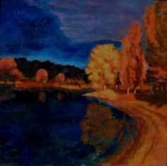 Oil on wood, 70x70cm, 2010, maybe before or after. I like catch the colors in the sunset or in the evening.