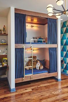 Kids either love or hate sharing a room with their siblings. We'll help you turn the emotional tide toward love with design ideas that all room sharers will be on board with. Check out these ideas to get some serious inspiration and end the squabbles.