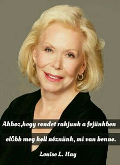 """Louise Hay is one of the founders of the self help movement. She is probably best known for her 1984 book entitled """"You Can Heal Your Life"""". Her childhood was one of devastation that might give anyone a reason to give up on life, however, she. Pretty People, Beautiful People, Beautiful Soul, Louise Hay Affirmations, Coaching Personal, Giving Up On Life, Life Changing Books, Wise Women, Role Models"""