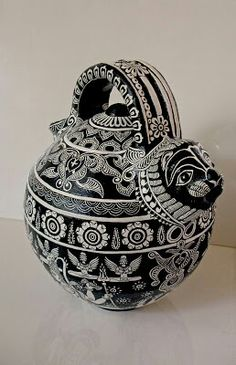 The term 'Bidriware' originates from the township of Bidar, which is still the chief centre for the manufacture of the unique metalware. Due to its striking inlay artwork, Bidriware is an important export handicraft of India and is prized as a symbol of wealth. The metal used is a blackened alloy of zinc and copper inlaid with thin sheets of pure silver. #mystatewithjaypore