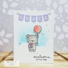 "207 Likes, 27 Comments - Niki Bee (@nikibee.handmade) on Instagram: ""Birthday card for my friends hubby.   Using: #mftstamps #dienamics #lawnfawn #winkofstella…"""