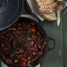 Chuck stew with chorizo, paprika, onion and rosmary
