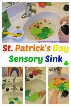 St. Patrick's Day Sensory Sink10  St. Patrick's Day Themed Kids Activities {we enjoyed as a family}