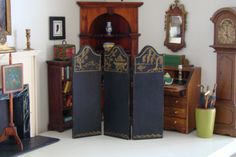 Vintage-Tynietoy-Doll-House-Miniature-Folding-Screen-1920s-1930s