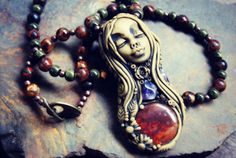 Healing and Peace Goddess Necklace with Amethyst and by TRaewyn Jewelry