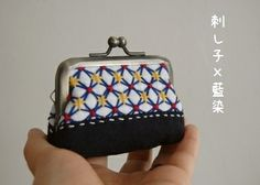 Pouch of needlework × indigo   things day-to-day