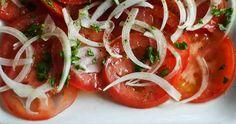 Portuguese tomato salad   Saudades de Portugal