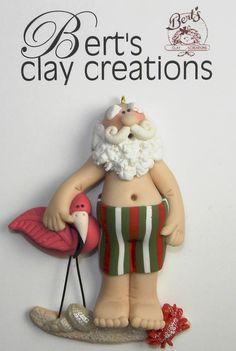 Ornament  Snowbirds por BertsClayCreations en Etsy, $16.50