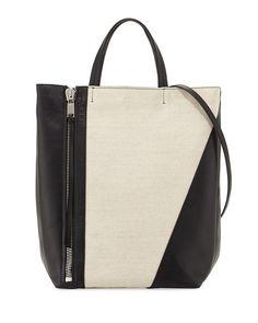 Cosmo Medium Canvas Tote Bag, Salt/Pepper