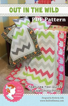 Out in the Wild Downloadable PDF Quilt Pattern It's Sew Emma, Kimberly Jolly