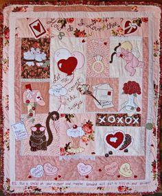 Valentine's Day quilt.