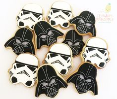 Star Wars cookies Darth Vader cookies Storm Trooper cookies