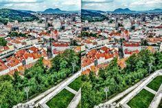 https://flic.kr/p/WVc5cN | True pano 3D | Ljubljana, Slovenia  CROSSVIEW To view 3D pics cross your eyes focusing between at the pictures until both images overlap one another in the middle. Per vedere le foto in 3D incrociare (strabuzzare leggermente) gli occhi fino a che le due immagini si sovrappongono formandone una sola centrale