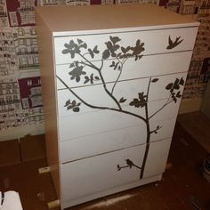 Hand painted chest of drawers - painted by Selina Hooper :)