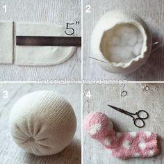 sew sock sheep face