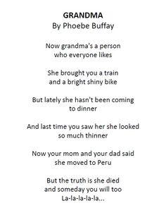 Grandma by Phoebe Buffay still telling kids how it is go pheobe