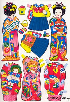 Japanese Cut Out Dressing Dolls | Flickr - Photo Sharing!