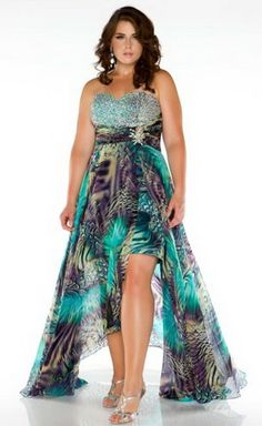 Stunning Dress Look with Plus size High Low Dresses
