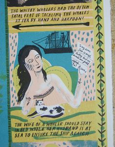 Curwen Studio Print : Alice Pattullo Illustration - Whitby Whaling (detail)