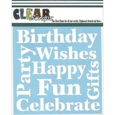 Wishes 6 x 6 Mask Stencil - Clear Scraps