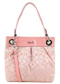 Amazon.com  Coach Ashley Sateen Signature Hippie Shoulder Crossbody Bag  17599 Peony Pink  0709737561205