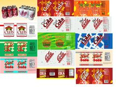Living A Dolls Life : HTM Doll Food! Printable labels/ideas for popcorn, cookies, soda cans - all can be done with kids