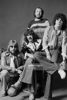 Scottish rock group Nazareth posed in Vancouver, Canada in September 1976. Left to right: Darrell Sweet, Manny Charlton, Pete Agnew and Dan McCafferty.