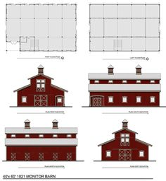 Barn-style House Plan - Dream Green Home Plans