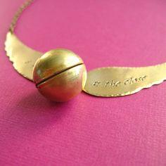 Harry Potter Snitch Necklace bahhhhh!