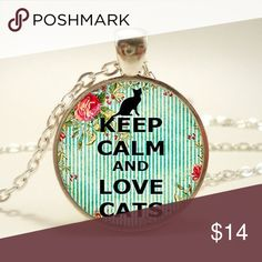 Keep calm and love cats necklace Perfect condition Jewelry Necklaces