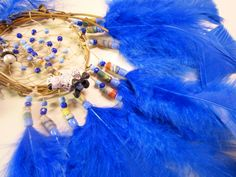 Horse Dancer's Handmade Lamb in Blue Dream Catcher by jungleeyejoe on Etsy