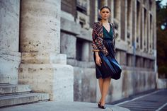 KAYTURE Top: Sonia Rykiel, Blazer: Pucci, Skirt: Zara, Shoes: Jimmy Choo, Jewels: Chopard, Headband: Shourouk, Clutch: Hermès.