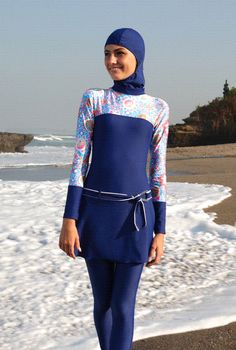 Swimsuit Islamic Swimwear, Muslim Swimwear, Islamic Fashion, Muslim Fashion, Hijab Fashion, Sports Hijab, Full Body Suit, Hijab Style, Girls Swimming