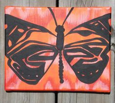 Flutter 2 Series Abstract Butterfly Painting by LColeStudios, $39.95