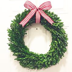 tied with a bow | boxwood wreath