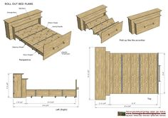 home garden plans: - Roll Out Bed Plans Construction - Smart Bed - Smart . : home garden plans: – Roll Out Bed Plans Construction – Smart Bed – Smart Furniture Smart Furniture, Home Decor Furniture, Furniture Projects, Furniture Plans, Refurbished Furniture, Farmhouse Furniture, Metal Furniture, Furniture Logo, Street Furniture