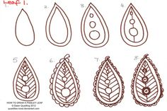 How to draw Paisley Leaf 01 by *Quaddles-Roost on deviantART