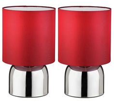 Buy ColourMatch Pair of Touch Table Lamps - Poppy Red at Argos.co.uk - Your Online Shop for Table lamps, Lighting, Home and garden.