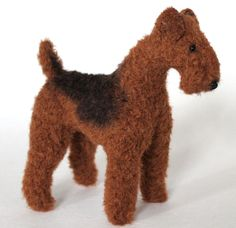 Listing is for a downloadable pdf sewing pattern. Sewing pattern for an 18cm tall mohair Airedale Terrier. It includes easy to follow step by step