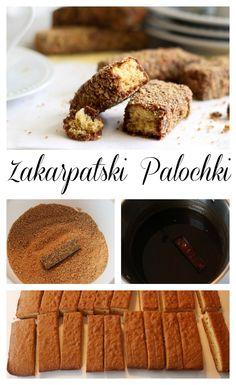 Soft honey cake bars, coated in chocolate and crumbs. ValentinasCorner.com