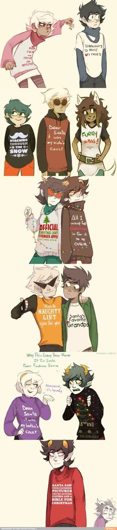It's not even Christmas and I want to repin this everywhere. http://ikimaru.tumblr.com/post/105738609445/theres-no-escape-from-christmas-sweaters