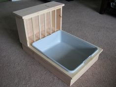 Bunny Rabbit Litter Pan / Hay Feeder Combo by BunsBedsAndBeyond on Etsy…