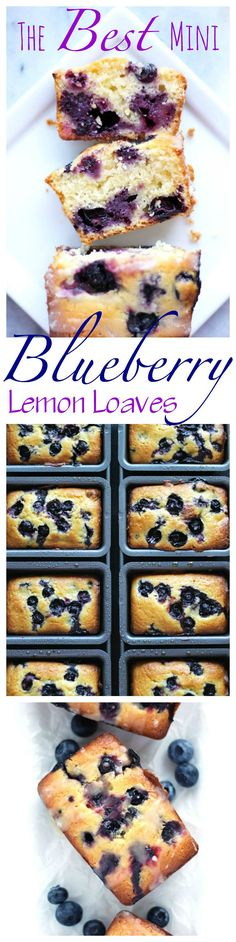 These little moist loaves are intertwined with blueberries and a perfect subtle hint of lemon with the sweetest glaze. Makes for a remarkable breakfast or lazy afternoon snack. NeuroticMommy.com #vegan #breads #cakes