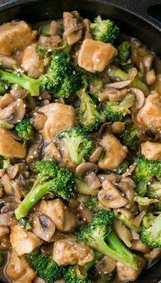 Chicken Broccoli and Mushroom Stir Fry | Bake a Bite